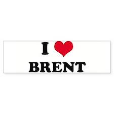 I HEART BRENT Bumper Bumper Sticker