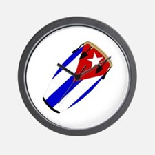Conga Cuba Flag music Wall Clock