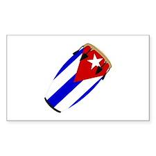 Conga Cuba Flag music Rectangle Bumper Stickers