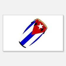 Conga Cuba Flag music Rectangle Decal