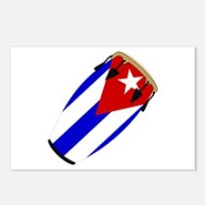 Conga Cuba Flag music Postcards (Package of 8)