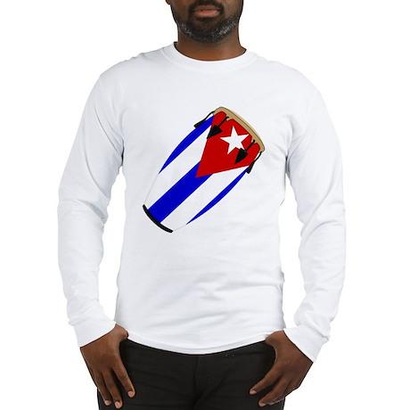 Conga Cuba Flag music Long Sleeve T-Shirt