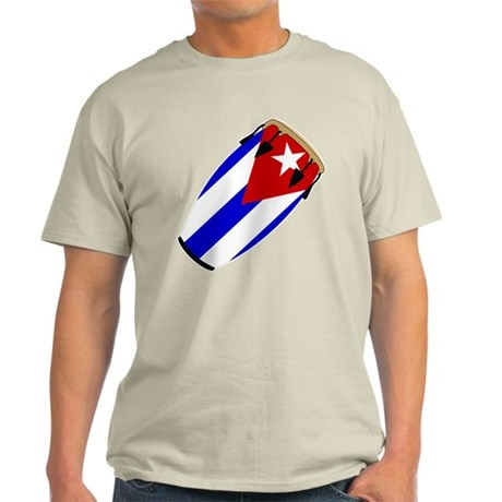 Conga Cuba Flag music Light T-Shirt