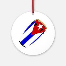 Conga Cuba Flag music Ornament (Round)