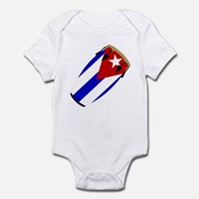Conga Cuba Flag music Infant Bodysuit