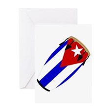 Conga Cuba Flag music Greeting Card