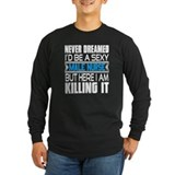 Male nurse Long Sleeve T-shirts (Dark)