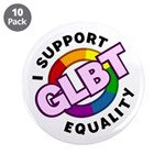 "GLBT Equality 3.5"" Button (10 pack)"
