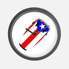 Conga Puerto Rico Flag Wall Clock