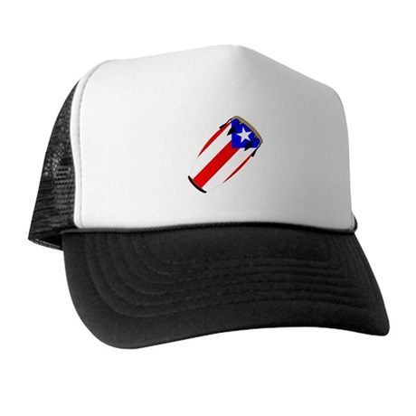 Conga Puerto Rico Flag Trucker Hat