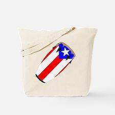 Conga Puerto Rico Flag Tote Bag