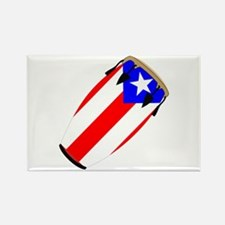 Conga Puerto Rico Flag Rectangle Magnet
