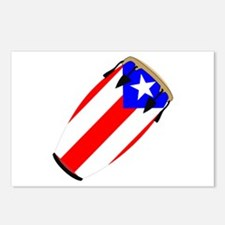 Conga Puerto Rico Flag Postcards (Package of 8)
