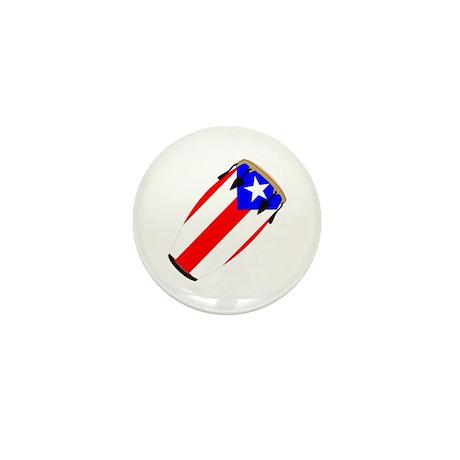 Conga Puerto Rico Flag Mini Button (10 pack)