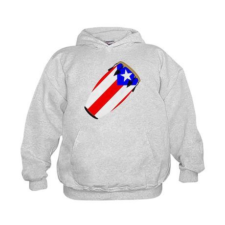 Conga Puerto Rico Flag Kids Hoodie
