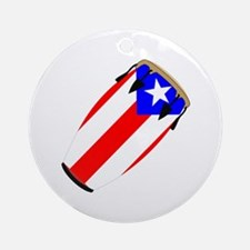 Conga Puerto Rico Flag Ornament (Round)