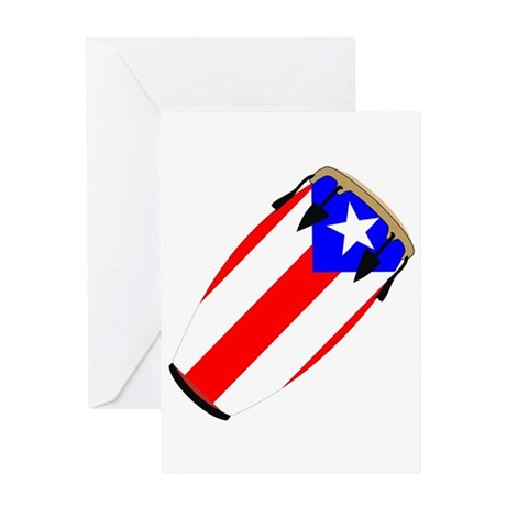 Conga Puerto Rico Flag Greeting Card