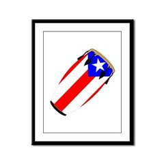 Conga Puerto Rico Flag Framed Panel Print