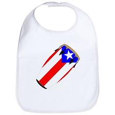 Conga Puerto Rico Flag Bib