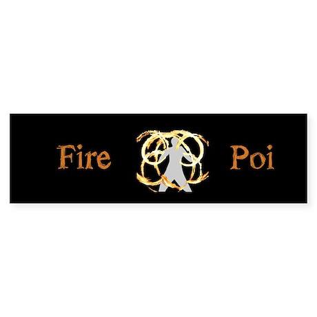 Fire Poi Merchandise Bumper Sticker