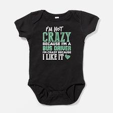 Crazy Bus Driver Baby Bodysuit