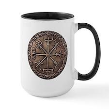Brass Vegvisir - Viking Compa Ceramic Mugs