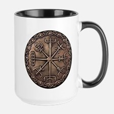 Brass Vegvisir - Viking Compa Ceramic Mugs