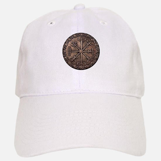 Brass Vegvisir - Viking Compa Baseball Baseball Cap