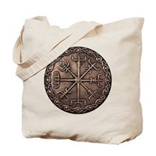 Brass Vegvisir - Viking Compa Tote Bag