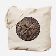Brass Vegvisir - Viking Compa Tote Bag