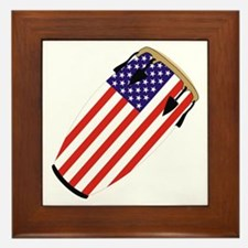 Conga USA Flag music Framed Tile