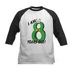 I am Eight Years Old! Kids Baseball Jersey