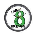 I am Eight Years Old! Wall Clock