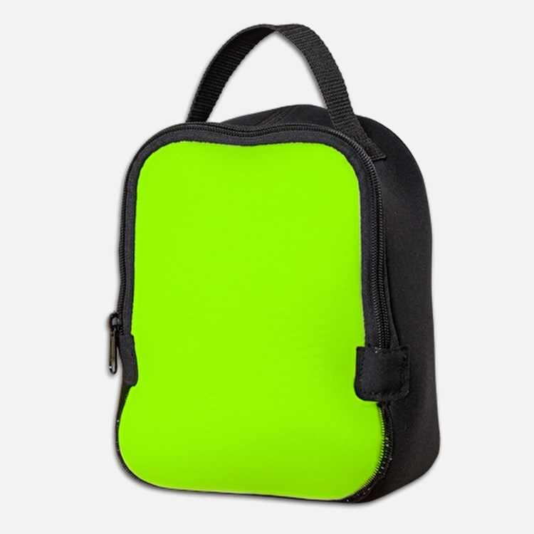Fluorescent Green Solid Color Neoprene Lunch Bag