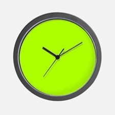 Fluorescent Green Solid Color Wall Clock