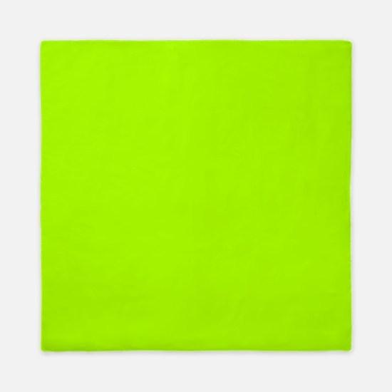 Fluorescent Green Solid Color Queen Duvet