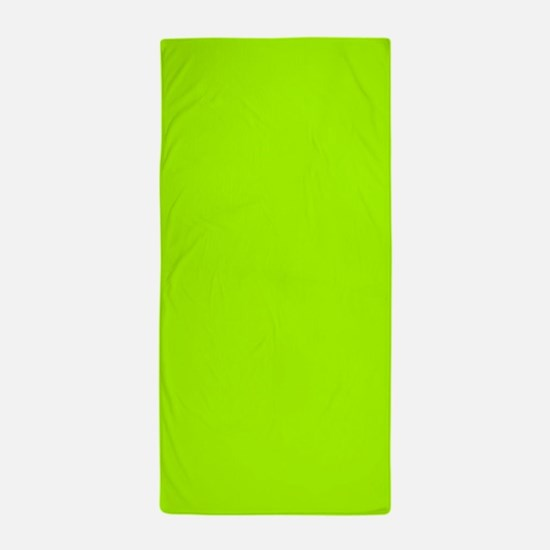 fluorescent green solid color beach towel - Bathroom Accessories Lime Green