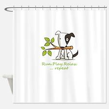 Unique Lab paw Shower Curtain