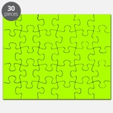 Fluorescent Green Solid Color Puzzle