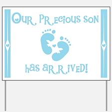 Precious New Son Yard Sign