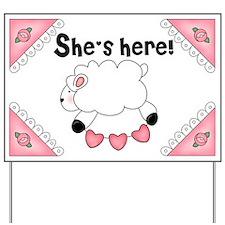 Baby Lamb She's Here Yard Sign