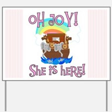 Noah's Ark It's a Girl Yard Sign