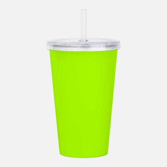Fluorescent Green Soli Acrylic Double-wall Tumbler