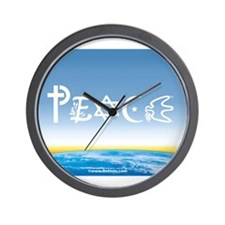 Peace On Earth at Sunrise Wall Clock