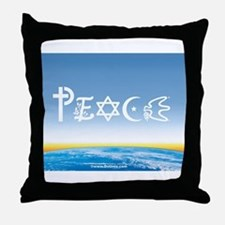 Peace On Earth at Sunrise Throw Pillow