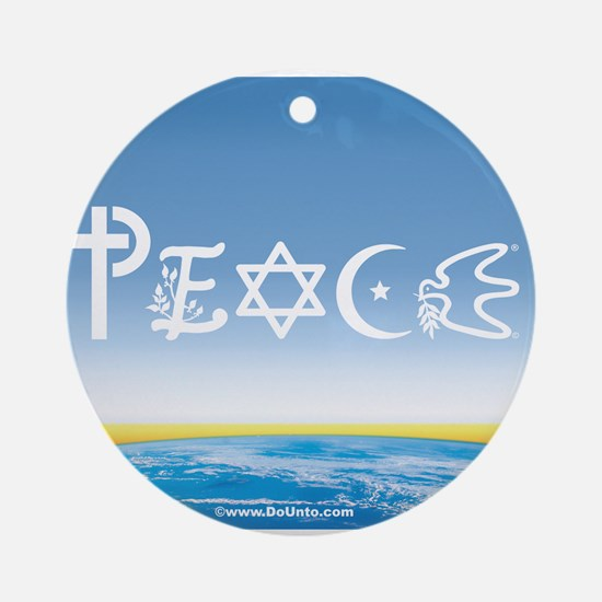 Peace On Earth at Sunrise Ornament (Round)