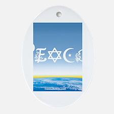 Peace On Earth at Sunrise Oval Ornament