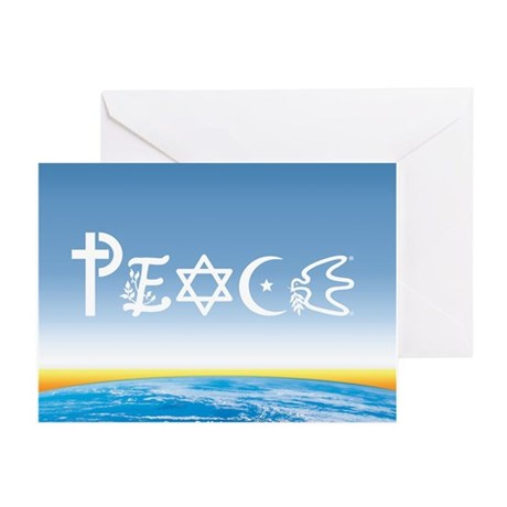 Peace On Earth at Sunrise Greeting Cards (Pk of 10
