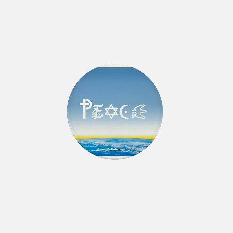 Peace On Earth at Sunrise Mini Button