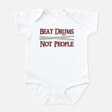 Beat Drums Not People Infant Bodysuit